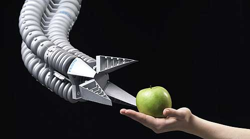 Festo Robotic Arm and apple in hand