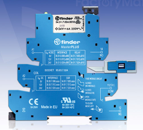 FactoryMation introduces new relay series from Finder